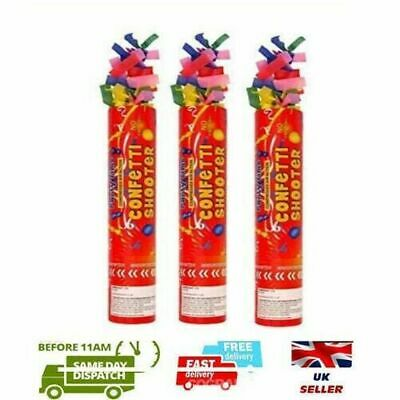 £3.97 • Buy 3 Pcs Handheld Confetti Shooter Cannons Poppers Foil Streamer Wedding Party