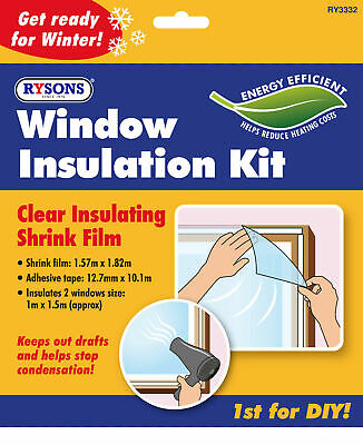 £3.49 • Buy Window Insulation Kit Shrink Film Draught Excluder Double Glazing Condensation