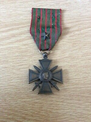 £35 • Buy France / French Ww1 Croix De Guerre Medal 1914 - 1917 With 1 Citation Star