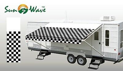 $ CDN167.41 • Buy 62719 RV Awning Replacement Fabric 19' (Actual Width 18'2 ) Checkered Flag