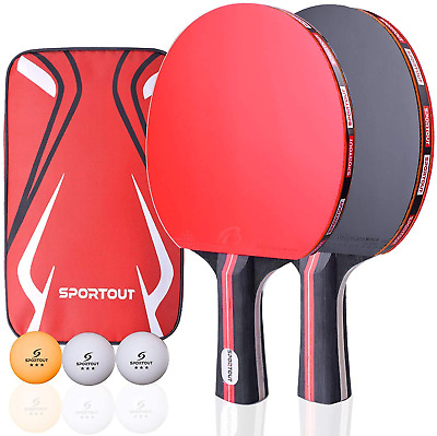AU26.90 • Buy Table Tennis Racket Ping Pong Paddle Set 2 Bats & 3 Balls Sports Case