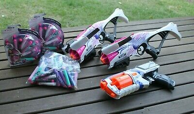 AU19.99 • Buy 2 X Nerf Rebelle Cross Bows, 1 X Nerf Strongam Gun And 80 + Darts