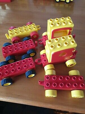 AU30 • Buy Duplo Pull Back Motors Cars Carriage Assemblies  Great Preloved Condition