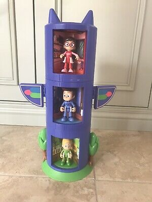 PJ Masks Transforming Tower With All 5 Figures • 16£
