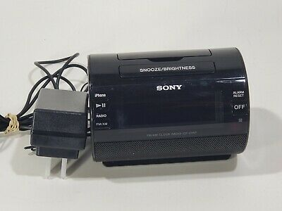 AU19.93 • Buy Sony ICF-C11IP AM/FM Radio IPhone IPod Lightning Dock Speaker Alarm Clock