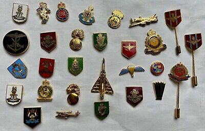 £4.99 • Buy Mixed Listing Of British Army Military Cap / Tie / Lapel Pin Badges - Code #166