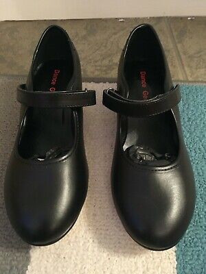 New Black Tap Shoes, Low Heel, UK 2, By Dance Gear With Hook And Loop Fastening • 3£