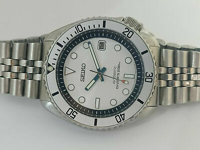 $ CDN113.76 • Buy Vintage White Submariner Mod Seiko Diver 7002-700a Automatic Men's Watch 940453