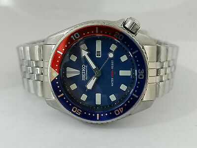$ CDN70.67 • Buy Vintage Seiko Diver 4205-015v Blue Face Automatic Mid Size Watch 540694
