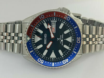 $ CDN91.35 • Buy Seiko Diver 7s26-0020 Skx007 Stunning Black Airdiver Padi Automatic Watch 1n0174