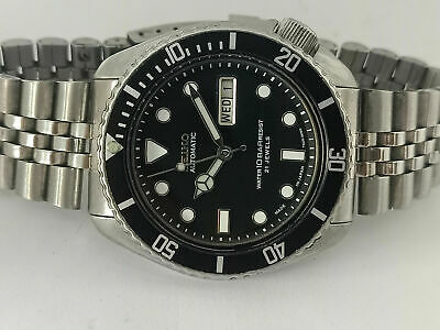 $ CDN15.60 • Buy Vintage Seiko Diver 6309-729a Black Submariner Mod Automatic Mens Watch 6x2849