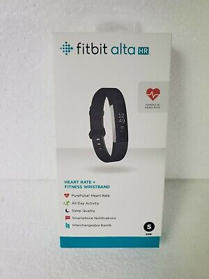 $ CDN84.91 • Buy Fitbit Alta HR Black/Stainless Steel Activity Tracker - Small With Charger