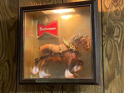 $ CDN90.69 • Buy Budweiser Beer Lighted Sign Clydesdale  Lakeside Products
