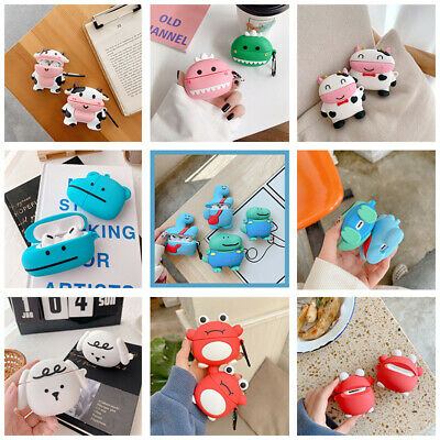 AU12.99 • Buy 3D Cute Cartoon Silicone Charging Case Cover Skin Protective For AirPods Pro 1 2