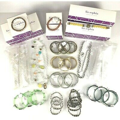 $ CDN187.46 • Buy New Lia Sophia Necklace Bracelet 57 Pc Mixed Lot Womens Jewelry Silver Gold Tone