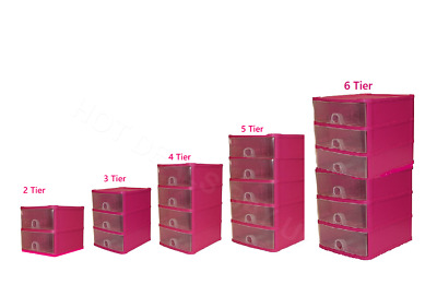 £14.95 • Buy Handy 2,3,4,5,6 Tier Plastic Drawers Storage Unit  Tower Chest Drawer Tidy Rack