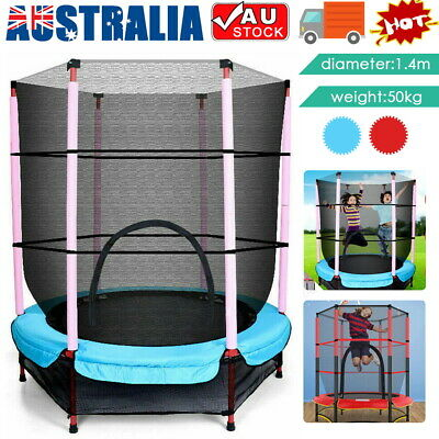 AU84.95 • Buy 4.6FT Indoor Outdoor Kids Junior Jump Trampoline Enclosure Safety Net AU STOCK