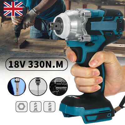 £18.19 • Buy 1/2  Brushless Torque Impact Wrench Cordless Replacement For 18V Makita Battery