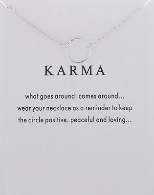 £5.50 • Buy Karma Necklace Various Sentiments Good Luck Charm  Gift Wish