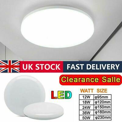 £2.99 • Buy LED Ceiling Light Bright Downlights Panel Wall Kitchen Bathroom Lamp Cool White