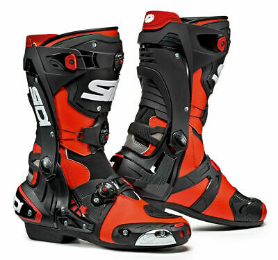 £249.99 • Buy Eu 42 Sidi Rex Track Day Racing Sports Motorcycle Boots Zipless Ce Approved Red