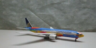 $115 • Buy Continental Airlines Peter Max B777-200ER 1:400 N77014 Die-cast Airplane Model