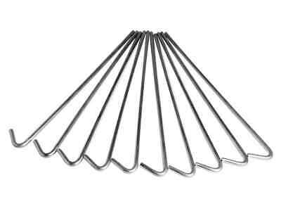 £6.23 • Buy NEW Halfords 9  Roundwire Tent Pegs 10 Pack,POSTAGE INC, In Uk