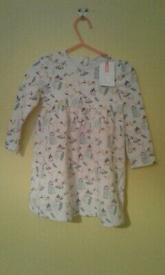 AU6.31 • Buy Baby Girls John Lewis Bird Dress Size 9-12 Months