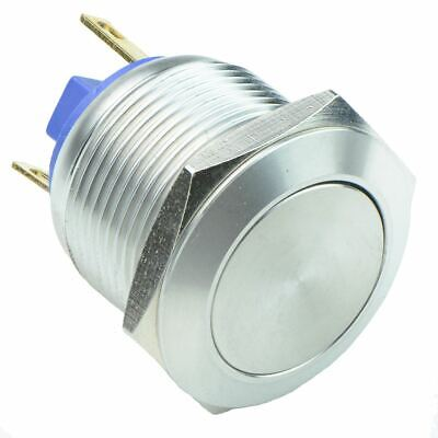 £4.49 • Buy Vandal Resistant 19mm Stainless Steel Momentary Push Button Switch 2A SPST