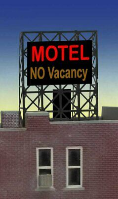 $19.95 • Buy Miller Engineering N/Z Scale MOTEL Lighted Rooftop Sign New #33-8975