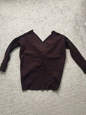 Topshop Slouchy Knitted Jumper Size 8 • 6£