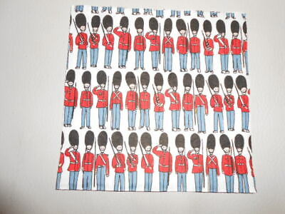 £1 • Buy One Cath Kidston London Guards Soldiers Luxury Design Decoupage Paper Napkin