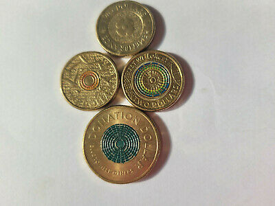 AU20 • Buy Collection Of 3 Rare Coloured $2 Coins Plus Bonus $1 Donation Coin