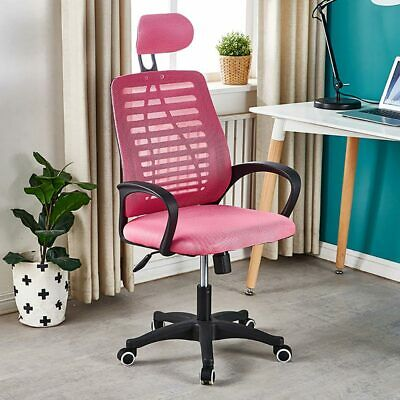 AU84.79 • Buy Office Chair Ergonomic Gaming Chair Computer Mesh Lift Swivel Executive Pink