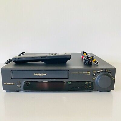 AU119.99 • Buy Panasonic NV-SD10A VCR Video Player VHS Recorder Super LP + Remote Tested Works