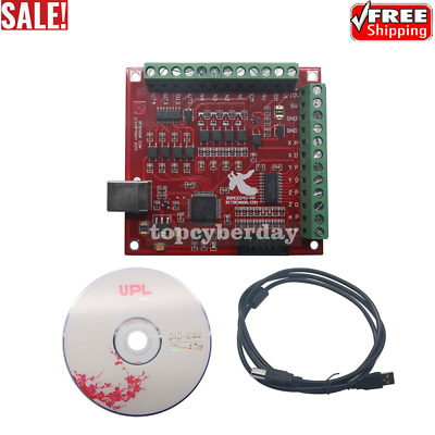 $28 • Buy CNC USB MACH3 100Khz Breakout Board 4 Axis Interface Driver Motion Controller
