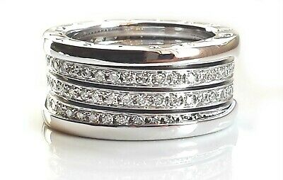 AU7999 • Buy BVLGARI B.Zero1 Diamond Four Band Ring 18kWhite Gold-Sz L1/2-Excellent&Authentic