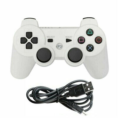 White Bluetooth Wireless DualShock3 Gamepad Game Controller For PS3 PlaySation 3 • 8.79£