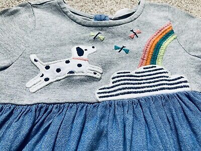 AU7.21 • Buy John Lewis Girls Dress 12-18 Months Rainbow Dog