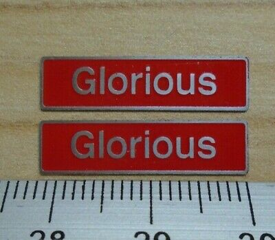 AU17.83 • Buy 50033 Glorious. O Gauge Etched 7mm Scale Nameplates. Self Adhesive. Red B/g