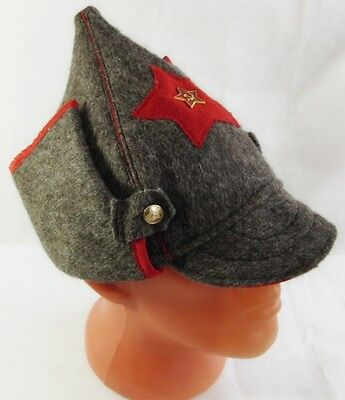 £16.50 • Buy Russian Red Army Hat Old Style Wool Budenovka USSR Metal Badge Great Quality New