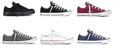 £36.95 • Buy NEW Converse All Star Ox Trainers Canvas White Black UK Size 3 4 5 6 7 8 9 10 11