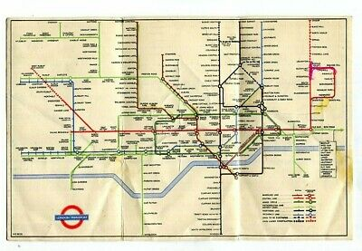 London Transport Railways: Underground Card Map: Diagram Of Lines: No. 1, 1948 • 2.50£
