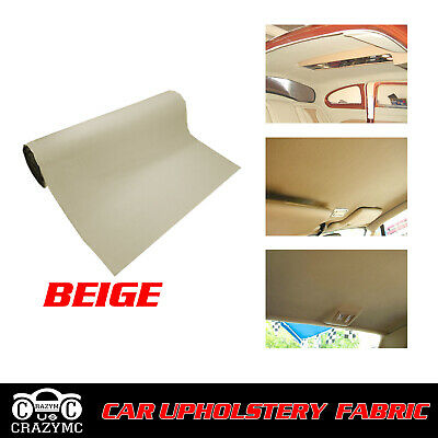 $44.63 • Buy Headliner Material Fabric 84 X60  Beige Foam Backing Sagging Replace Upholstery