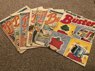 £4.99 • Buy Buster Comic Joblot Of 7 Issues From 1986 And 1988