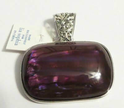 $ CDN0.19 • Buy M44 Lia Sophia Grape Chill Purple Silver Slide Pendant RV$32