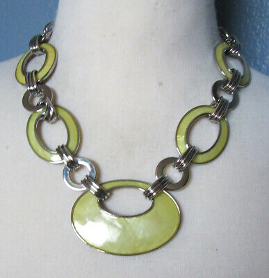 $ CDN3.77 • Buy Lia Sophia Jewelry Saltwater Mother Of Pearl Necklace In Silver RV$128