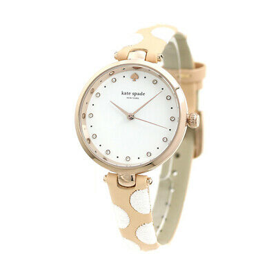 $ CDN75.26 • Buy Kate Spade Holland White Dial Two-tone Leather Strap Ladies Watch Ksw1450 New