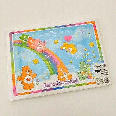£20 • Buy RARE Vintage 80s/90s Care Bears Activity Placemats 100 PIECE Party NEW