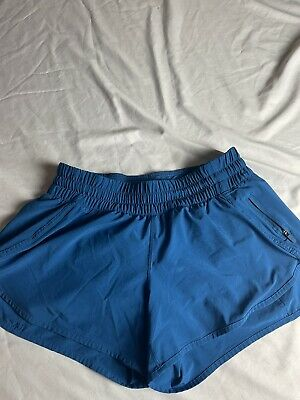 "$ CDN40.17 • Buy Lululemon Hotty Hot Running Shorts 4"" Size 12 Blue Women's"